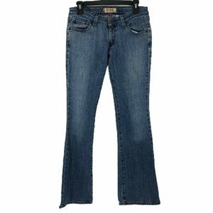 Levis Womens Blue Too Super Low Flare Jeans 5